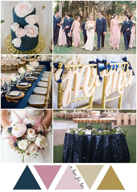 best 25 navy blush weddings ideas on