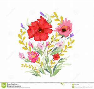 Aquarell Malen Blumen : malen sie aquarell blumen vektor abbildung illustration ~ Articles-book.com Haus und Dekorationen