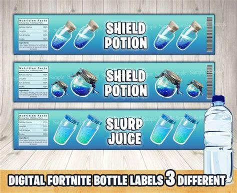 fortnite bottle labels   print  file  times