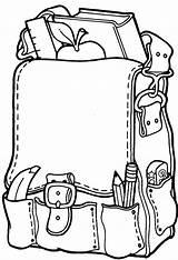 Coloring Pages Backpack sketch template