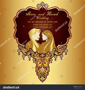 indian wedding invitation card abstract background stock With hindu wedding invitations vector