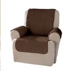 furniture wing recliner chair protector cover brown