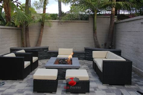 small backyard patio pit planters walls project view 18
