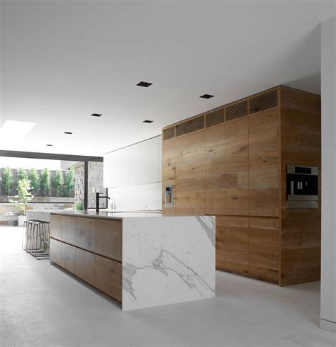 Residential Design Inspiration  Modern Wood Kitchen