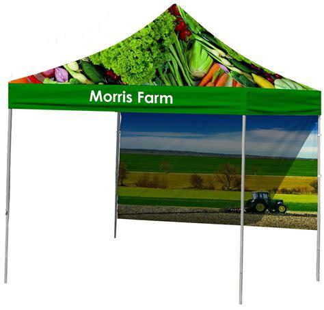 custom printed canopy   top backwall printing