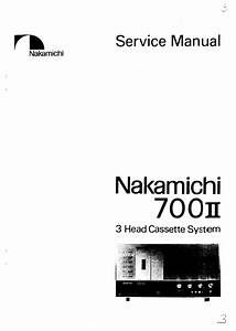 Nakamichi 700 Mkii Mk2 Original Service Manual