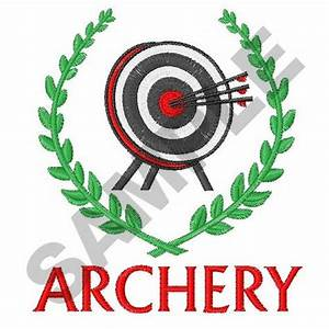 Embellishments Embroidery Design  Archery Crest From Great