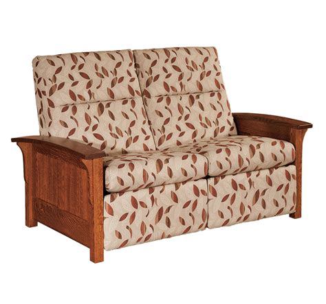 Mission Loveseat Recliner by Panel Mission Reclining Loveseat From Dutchcrafters Amish