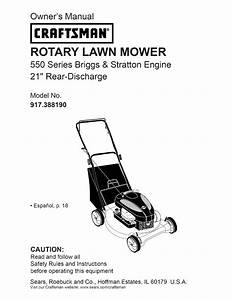 Craftsman Lawn Mower 38819 User Guide
