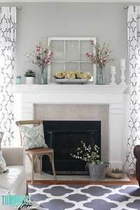 10 manières de décorer le manteau de cheminée au printemps