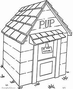 Dog House Coloring Page - Coloring Home