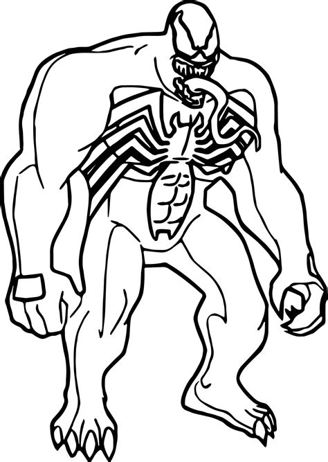cool marvel venom coloring page wecoloringpage marvel