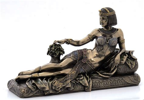 art deco style egyptian queen lying   chaise lounge