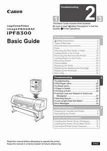 Canon Imageprograf Ipf8300 Basic Guide No 1 User Manual