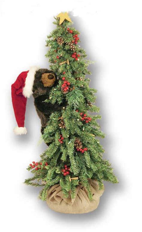 christmas tree bear climbing bear  santa hat