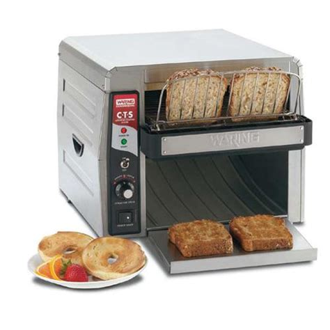 electric conveyor toaster waring cts1000 electric countertop conveyor toaster