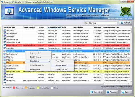 advanced windows service manager  setup