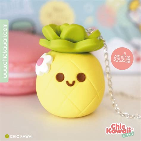 Pia Kawaii Pineapple Craft Ideas Pinterest Fimo