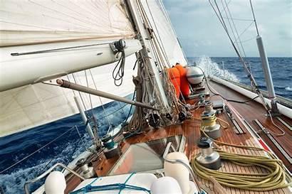 Sailing Boat Sail Ship Deck Sea Yacht