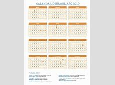 Calendario Brasil año 2019 Feriados