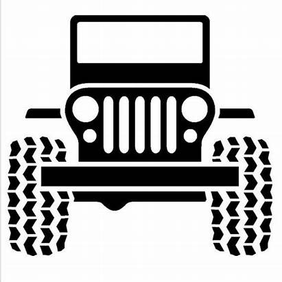 Jeep Decal Wrangler Vinyl Clipart Drawing Sticker