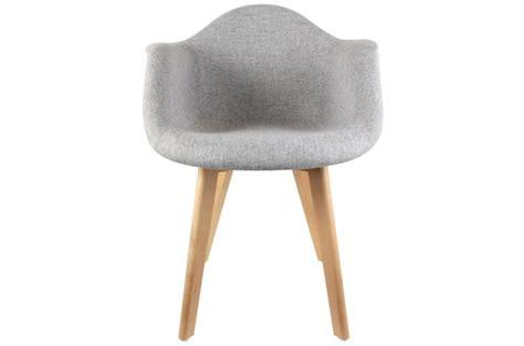 chaise accoudoir tissu chaise scandinave avec accoudoir tissu gris design