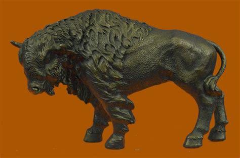 Buffalo Bison Western Native American Art 100% Bronze On
