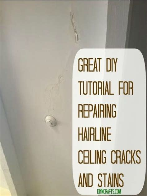 hairline cracks in ceiling paint stains ceilings and diy tutorial on