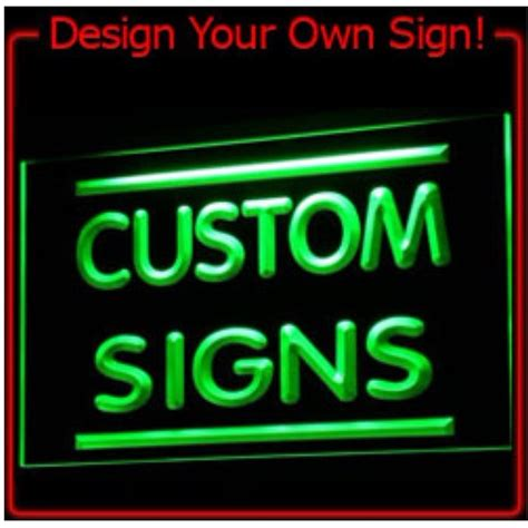 make your own led l 7 colors tm sign design your own led light sign custom