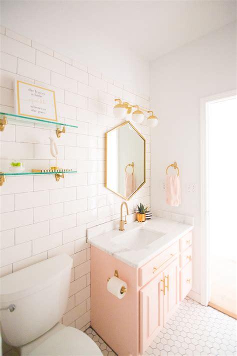 girls room floor l modern glam blush girls bathroom design cc and mike