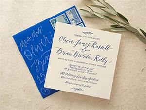 cobalt calligraphy wedding invitations With wedding invitation calligraphy philippines
