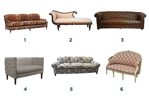 guide  types  styles  sofas settees  english