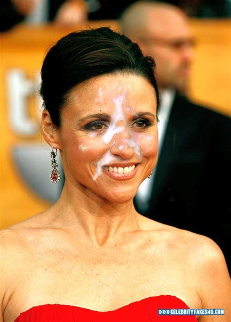 fake julia dreyfus sperma facial pics