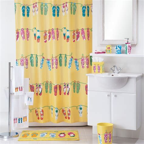 allure home creations sun sand fabric shower curtain