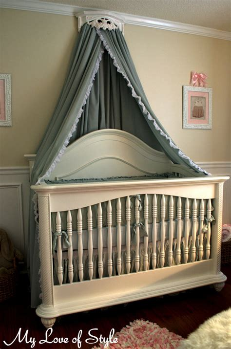 baby crib canopy diy bed crown and crib canopy tutorial my of style