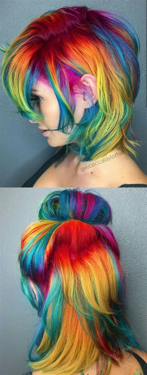 Best 20 Rainbow Dyed Hair Ideas On Pinterest Unicorn