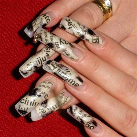 creative newspaper nail art design ideas pouted