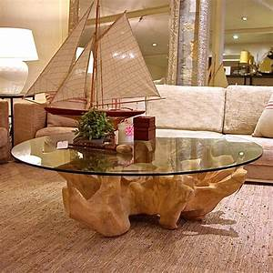 Tree trunk table this could be cool with my glass i have for Tree trunk coffee table with glass top