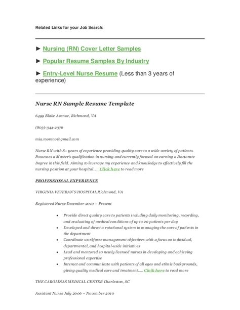 how to write a nursing rn resume