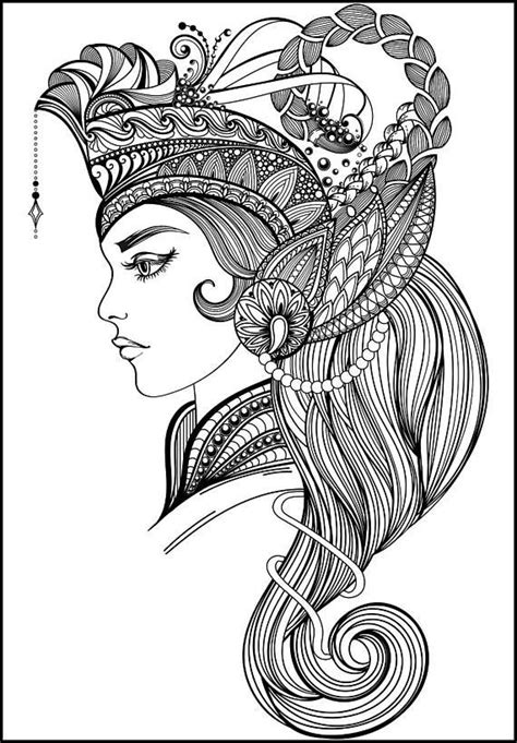 beautiful adult coloring page beautiful women coloring