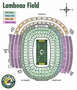 Lambeau Field Seating Chart With Rows Lambeau Field Maplets