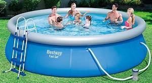 Bestway Pool Set : new bestway 15ft x 42 fast set swimming pool with pump ladder blue 6942138929850 ebay ~ Eleganceandgraceweddings.com Haus und Dekorationen