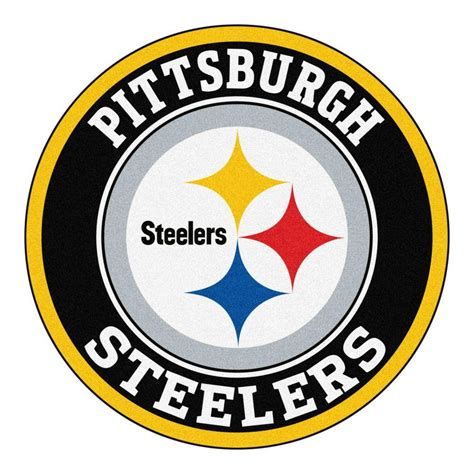 fanmats nfl pittsburgh steelers black  ft  area rug