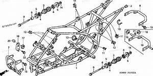 Honda Atv 2003 Oem Parts Diagram For Frame   U0026 39 01