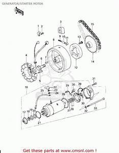 Kawasaki Kz200a1 1978 Canada Generator  Starter Motor