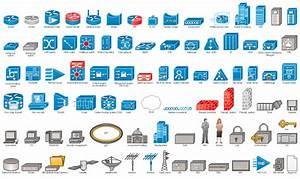 Cisco Network Topology   Cisco Icons   Shapes  Stencils