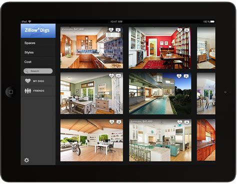 #1 Home Decor App : Zillow Launches Zillow Digs, A New Home Improvement