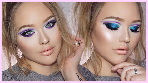zendaya edgy double cut crease makeup tutorial