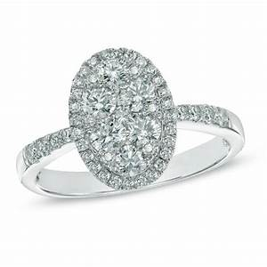 1 ct tw composite oval diamond frame engagement ring in With composite wedding rings