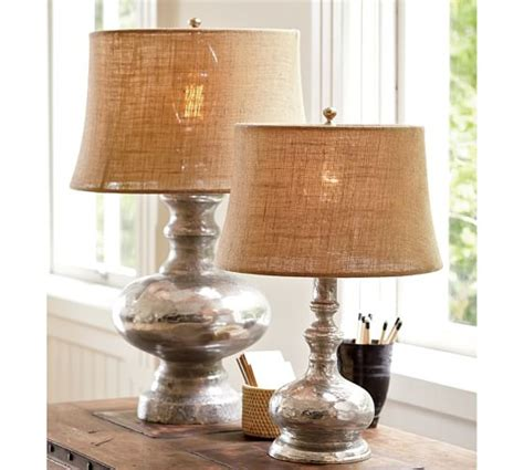 pottery barn lights antique mercury glass table bedside ls pottery barn